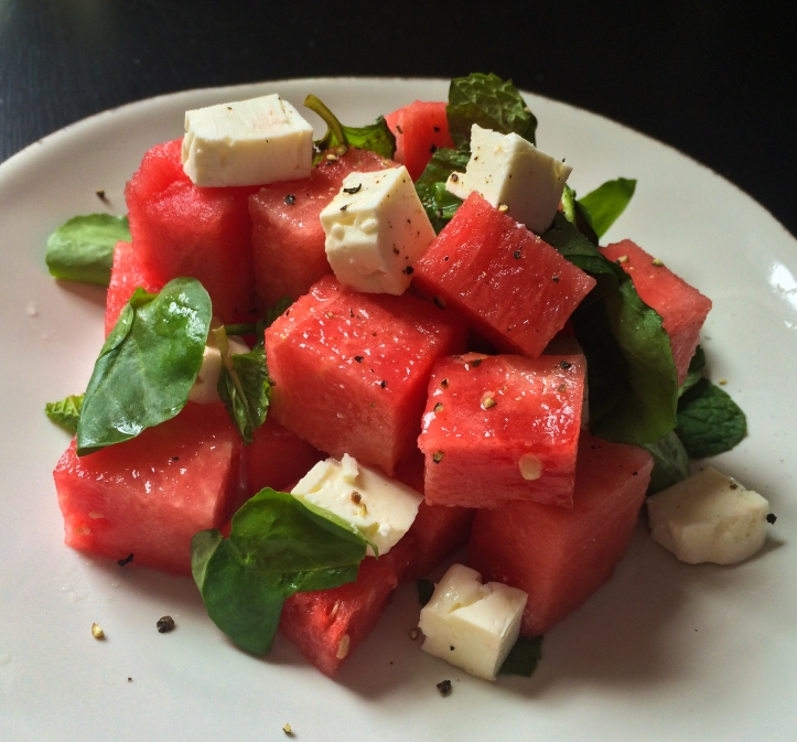 My dear watermelon feta salad.