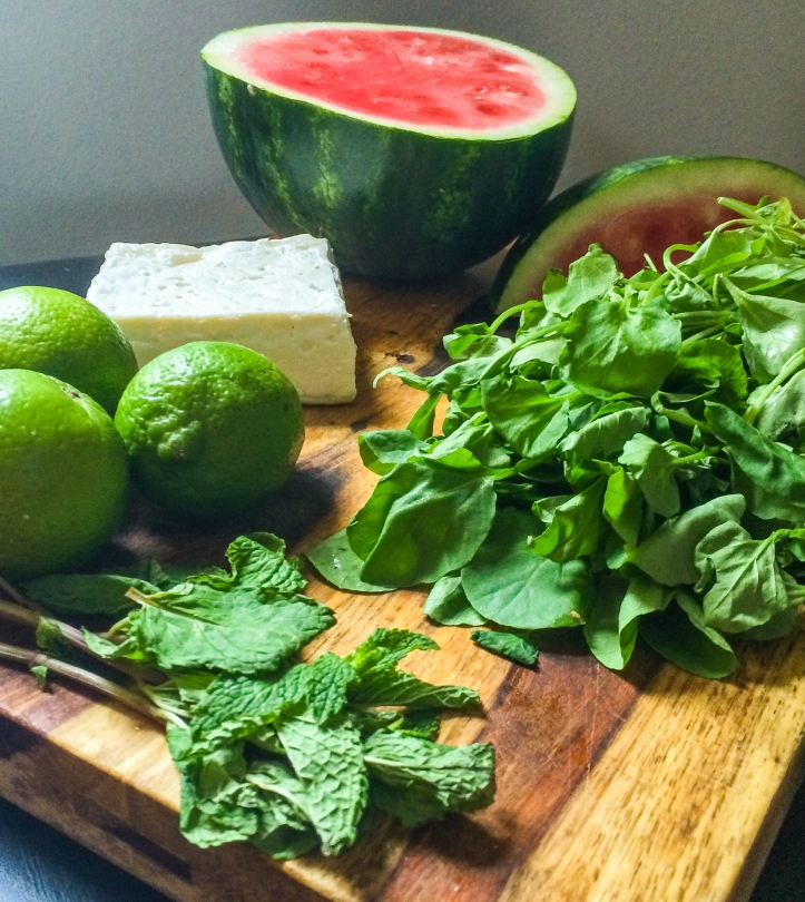 Watermelon Salad Ingredients