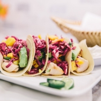 In the Kitchen with Style'N: Fish Tacos + Red Cabbage Mango Slaw
