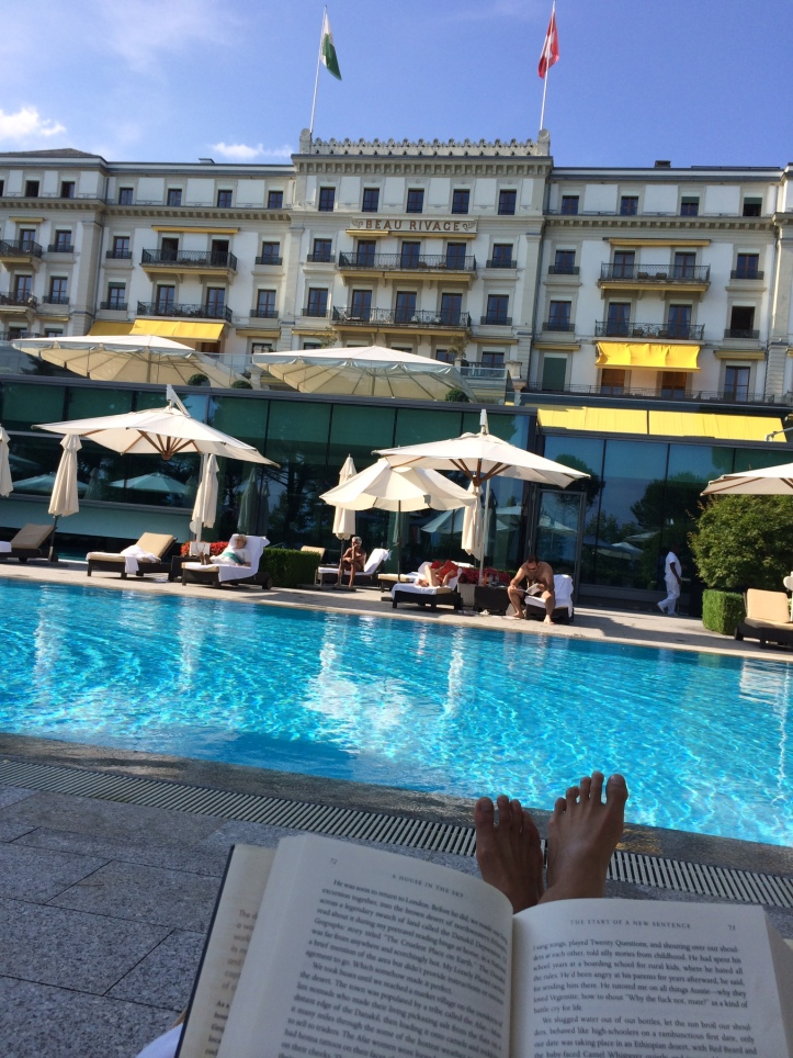 I had to take advantage of the Beau Rivage Palace's pool on the one sunny day in Switzerland. AKA I was too sore to move after the vineyard bike excursion.