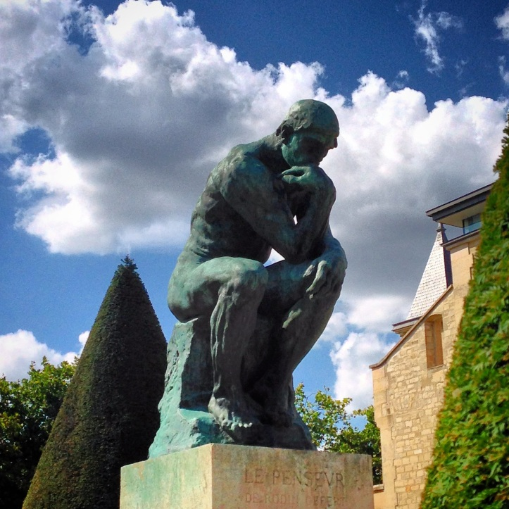 Museum #3 (yes we skipped #2, Musee D'Orsay,  as cameras are forbidden) hosted Rodin's The Thinker.