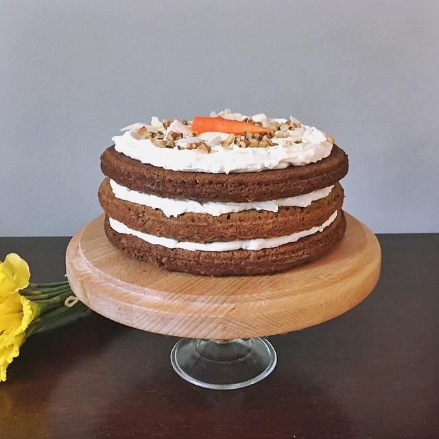 Gluten Free, Paleo Carrot Cake w/ Coconut Frosting||  #GlutenFree #Paleo #Cake #recipe #birthdaycake #coconutfrosting