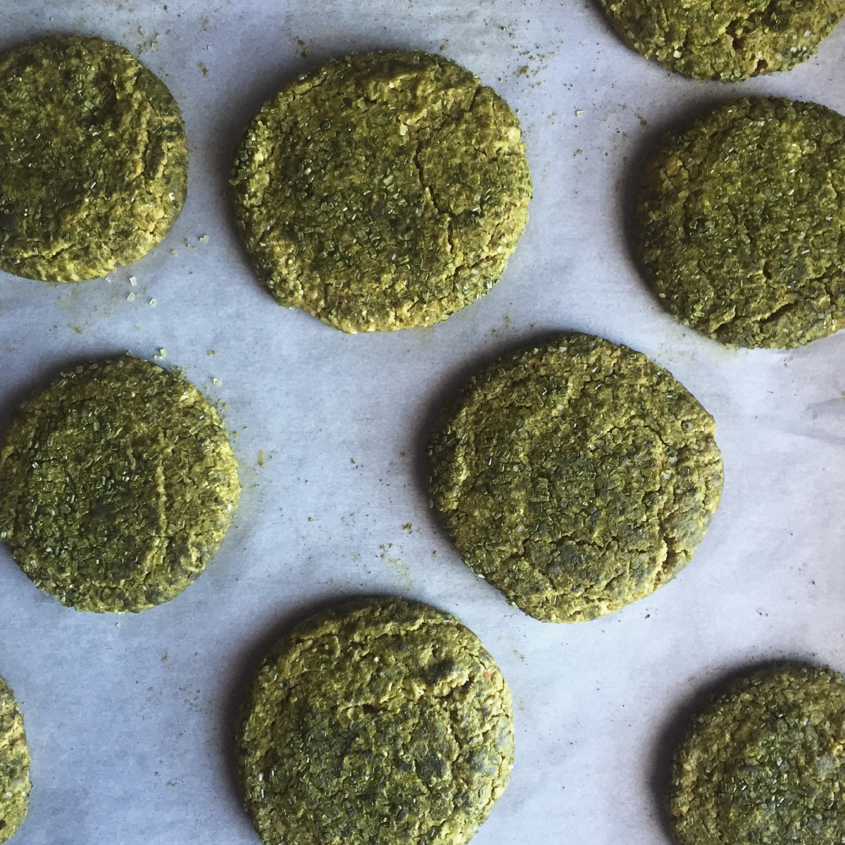 MATCHA GINGER COOKIES